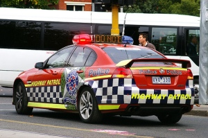 Victoria Police Highway Patrol car